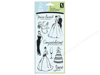 Inkadinkado InkadinkaClings Clear Stamp Wedding