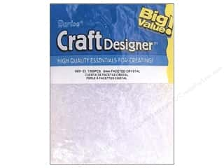 Darice Beads Craft Designer 6mm Facet Crystal 1500pc