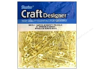 jewelry safety pin: Darice Jewelry Designer Safety Pins #2 Gold 144pc