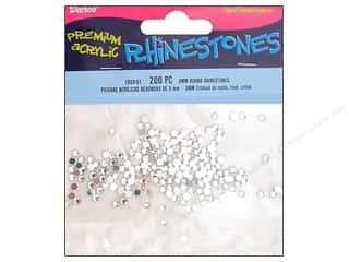 Rhinestones Beading & Jewelry Making Supplies: Darice Rhinestone 3mm Round Crystal 200pc