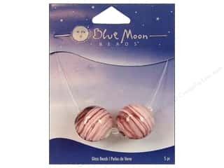 Blue Moon Beads Art Glass Round Swirl Pink/Purple