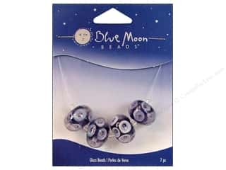 Blue Moon Beads Art Glass Rondelle Dots Purple/Clear