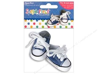 "Doll Making Clearance Crafts: Fibre-Craft Doll Clothes Springfield 18"" Shoes Tennis Blue"