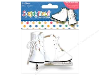 "Fibre-Craft Doll Clothes Sprgfld 18"" Ice Skates"