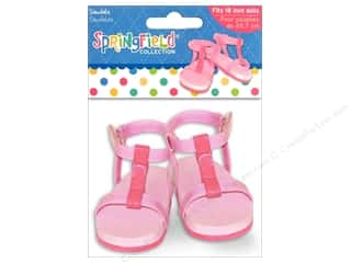 "Dolls and Doll Making Supplies: Fibre-Craft Doll Clothes Springfield 18"" Strappy Sandals"