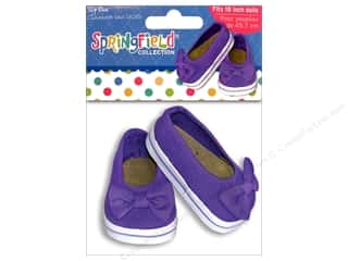 "Toys Doll Making: Fibre-Craft Doll Clothes Springfield 18"" Shoes Slip On"