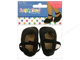 "Fibre-Craft Doll Clothes Sprgfld 18"" Shoe Drs Blk"