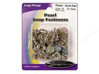 Better Homes : Snapsource Capped Prong Ring Snap Fasteners Size 16 Pearl Pastel