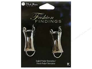 Findings Black: Blue Moon Beads Metal Connector 2 pc. Fashion Findings Black Nickel Tube