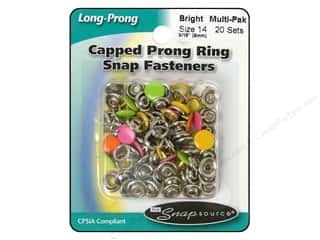 Snapsource Snap Capped Prong Ring Size 14 Multi Bright