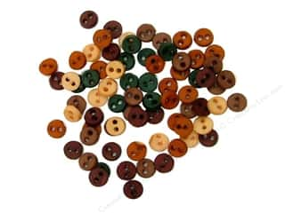 Fall / Thanksgiving Buttons: Jesse James Dress It Up Embellishments Micro-Minis Round Fall