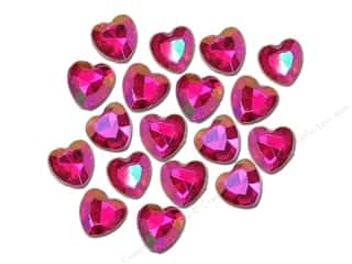Jesse James Embellishments Facet Cut Hearts Hot Pink