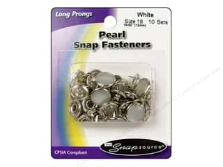 Snapsource Snap Capped Prong Ring Sz18 Pearl White