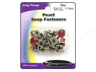 Snapsource Snap Capped Prong Ring Sz18 Pearl Red