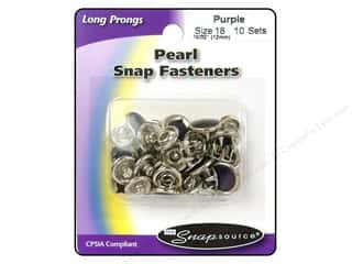 Snapsource Snap Capped Prong Ring Size 18 Pearl Purple