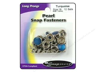 Snapsource Snap Capped Prong Ring Sz18 Pearl Turq