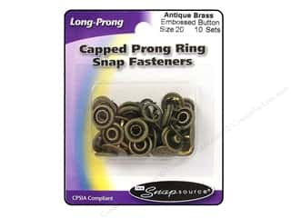 Snapsource Snap Capped Prong Ring Size 20 Button Antique Brass