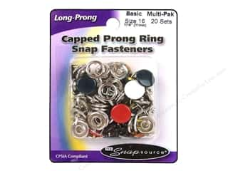 Snapsource Blue: Snapsource Snap Capped Prong Ring Size 16 Multi Basic