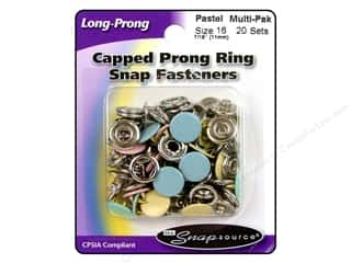 Snapsource Blue: Snapsource Snap Capped Prong Ring Size 16 Multi Pastel