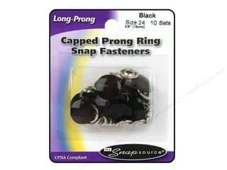 Snapsource Snap Capped Prong Ring Sz24 Ring Black