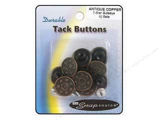 Snapsource Tack Button 7 Star Bullseye Ant Copper
