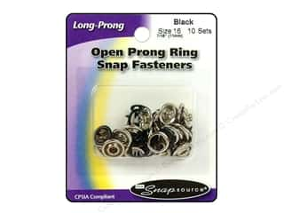 Snapsource Snap Open Prong Ring Size 16 Black
