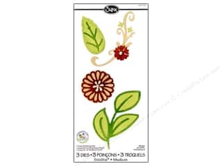 Sizzix Sizzlits Die Set 3pc. Floral Botanical