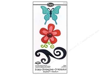 Sizzix Sizzlits Die Set 3pc. Butterfly, Flower & Swirl