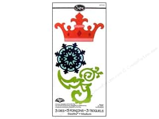 Sizzix: Sizzix Sizzlits Die Crown, Medallion & Scrolls 3pc