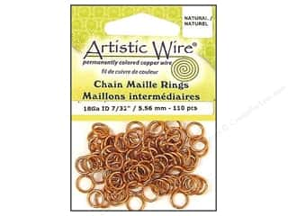 32 ga wire: Artistic Wire Chain Maille Jump Rings 18 ga. 7/32 in. Natural 110 pc.