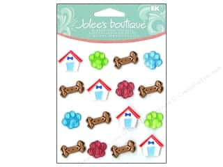 Jolee's Boutique Cabochons Paw Prints And Bones