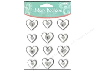 Jolee&#39;s Boutique Cabochons Silver Hearts