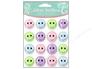 Jolee's Boutique Cabochons Pastel Smiley Face