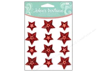 Jolee's Boutique Cabochons Red Stars