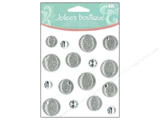 EK Success Dimensional Stickers: Jolee's Boutique Cabochons Silver Dots