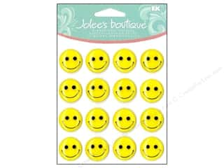 Jolee's Boutique Cabochons Yellow Smiley Faces