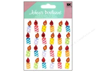 Rhinestones Birthdays: Jolee's Boutique Stickers Birthday Candle Repeats