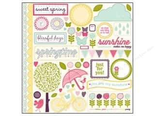 "Spring Borders: Echo Park Sticker 12""x 12"" Springtime Elements (15 sheets)"