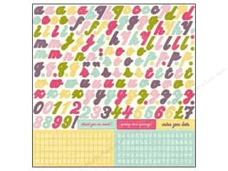 alphabet stickers: Echo Park Sticker 12x12 Springtime Alphabet (15 sheets)