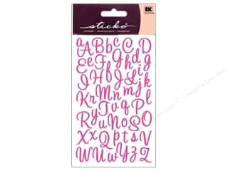 EK Sticko Stickers Alpha Script Small Sweetheart Pink
