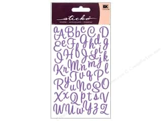 EK Sticko Stickers Alpha Script Small Sweetheart Purple