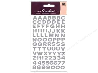 Metal ABC & 123: EK Sticko Alphabet Stickers Funhouse Metallic Silver