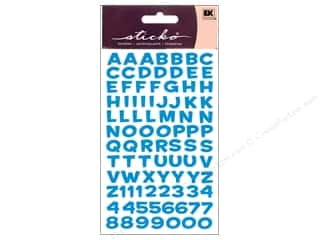 Stickers Stickers: EK Sticko Alphabet Stickers Funhouse Metallic Blue