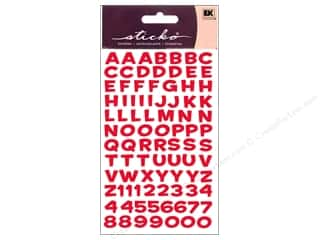 EK Sticko Stickers Alpha Metallic Funhouse Red