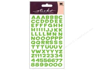 Stickers ABC & 123: EK Sticko Alphabet Stickers Funhouse Metallic Green