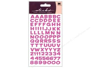 Metal ABC & 123: EK Sticko Alphabet Stickers Funhouse Metallic Pink