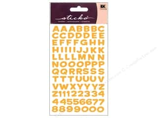 Metal ABC & 123: EK Sticko Alphabet Stickers Funhouse Metallic Yellow