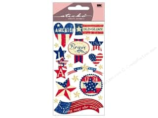 sticko: EK Sticko Stickers Patriotic Stars & Stripes