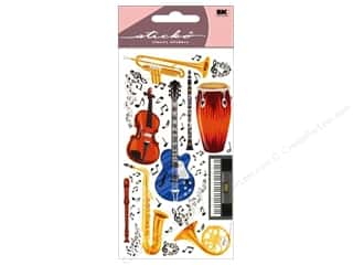 Music & Instruments paper dimensions: EK Sticko Stickers Instruments