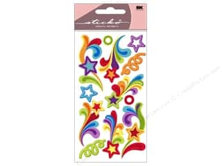 Theme Stickers / Collection Stickers: EK Sticko Stickers Rainbow Waves